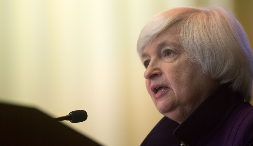 PHILADELPHIA, PA - JUNE 6: Federal Reserve Chair Janet L. Yellen delivers a speech on economic outlook and monetary policy on June 6, 2016 in Philadelphia, Pennsylvania. Today is the last time Ms. Yellen will speak publicly before the blackout period preceding the Federal Open Market Committee meeting on June 15, 2016.